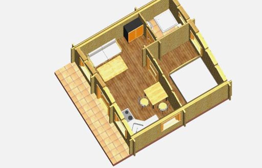 Casa din lemn F11