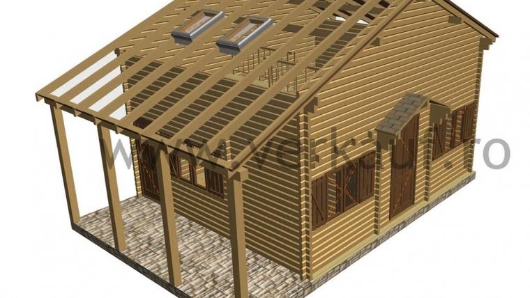 Casa din lemn F13.B