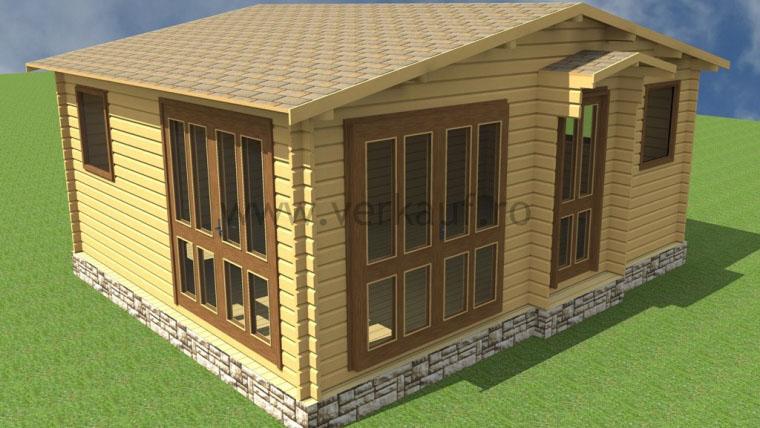 Wooden cottage F15.B