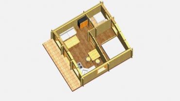 Casă din lemn F11