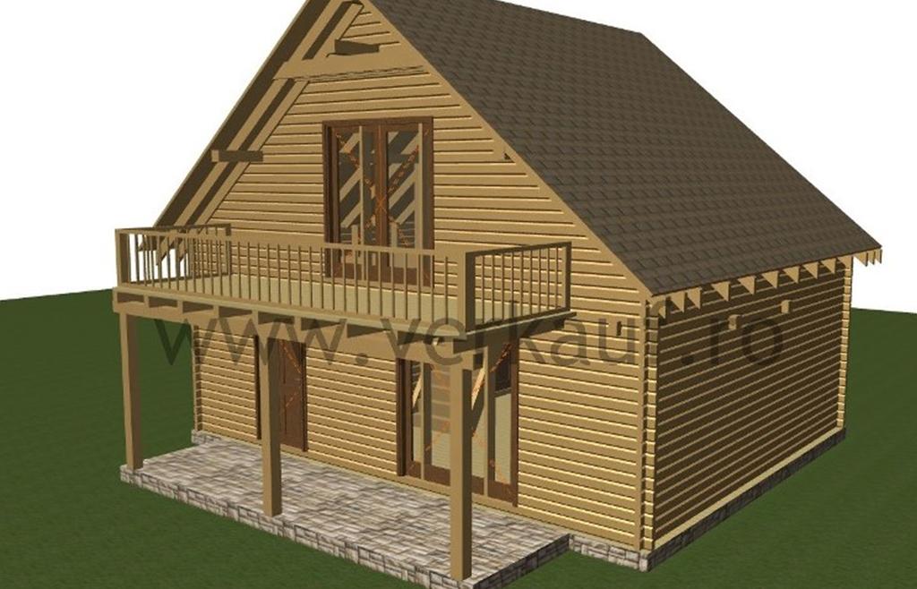 L2 típusú családi faház