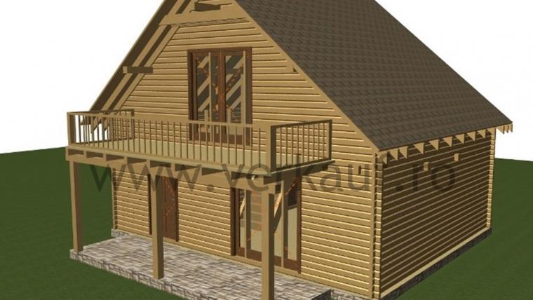 Casa de locuit din lemn L2