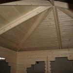 acoperis pavilion, vedere interioara