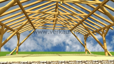 tetőszerkezet látványterve