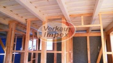 Casa pe osatura din lemn-planseu din lemn