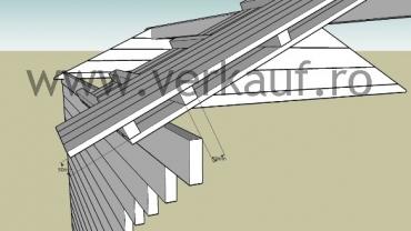 acoperisul unei case din lemn