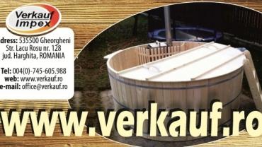 Ciubăr din lemn pentru baie