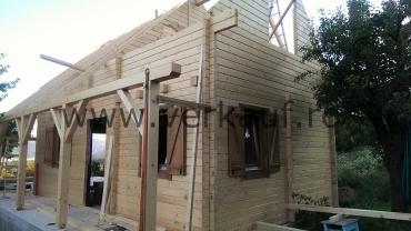 H3.B típusú faház építése