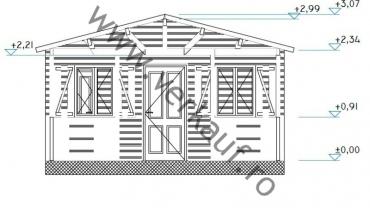 F11.C típusú kemping faház