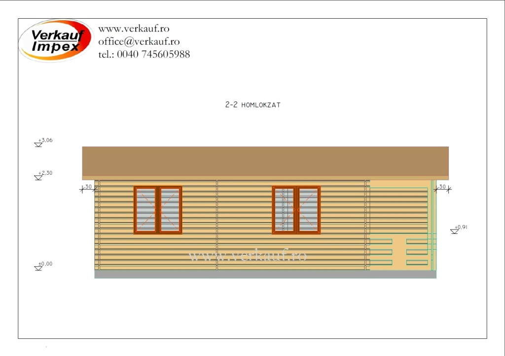 Wooden cottage F14.B