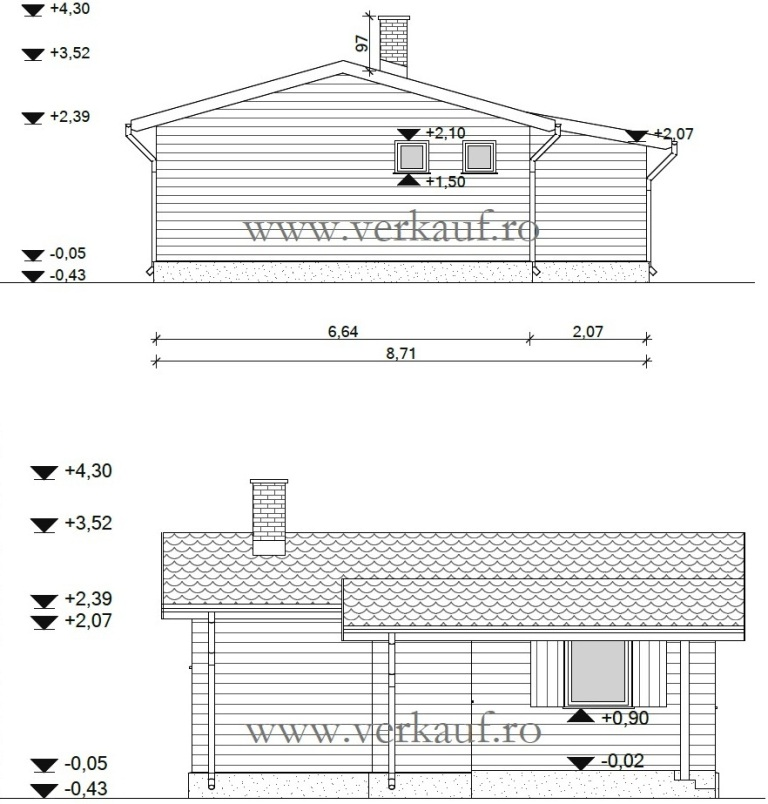 Wooden cottage type F1.B