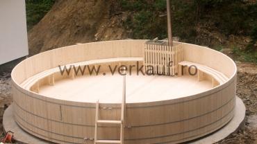 6m átmérőjű dézsafürdő