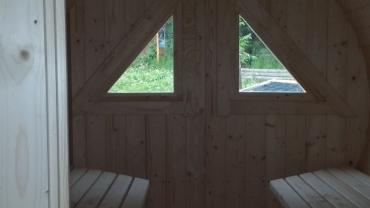 Barrel sauna