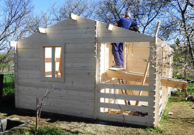 Wooden House Assembling