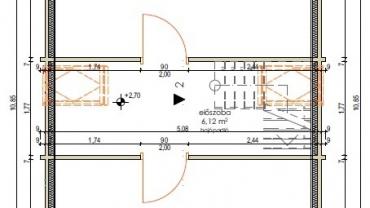 F7.C típusú faház emeleti alaprajza