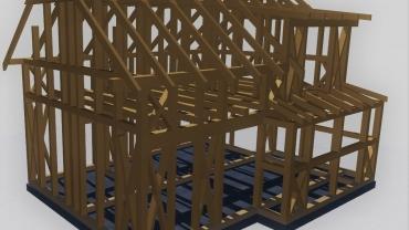 könnyűszerkezetes faház terve