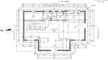 Casa din lemn L8 - plan parter