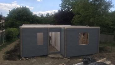 L9 típusú faház építése
