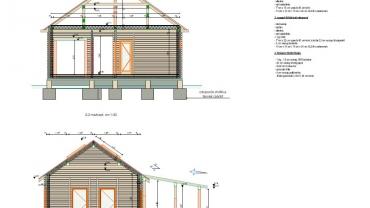 Casa din lemn L9 sectiuni